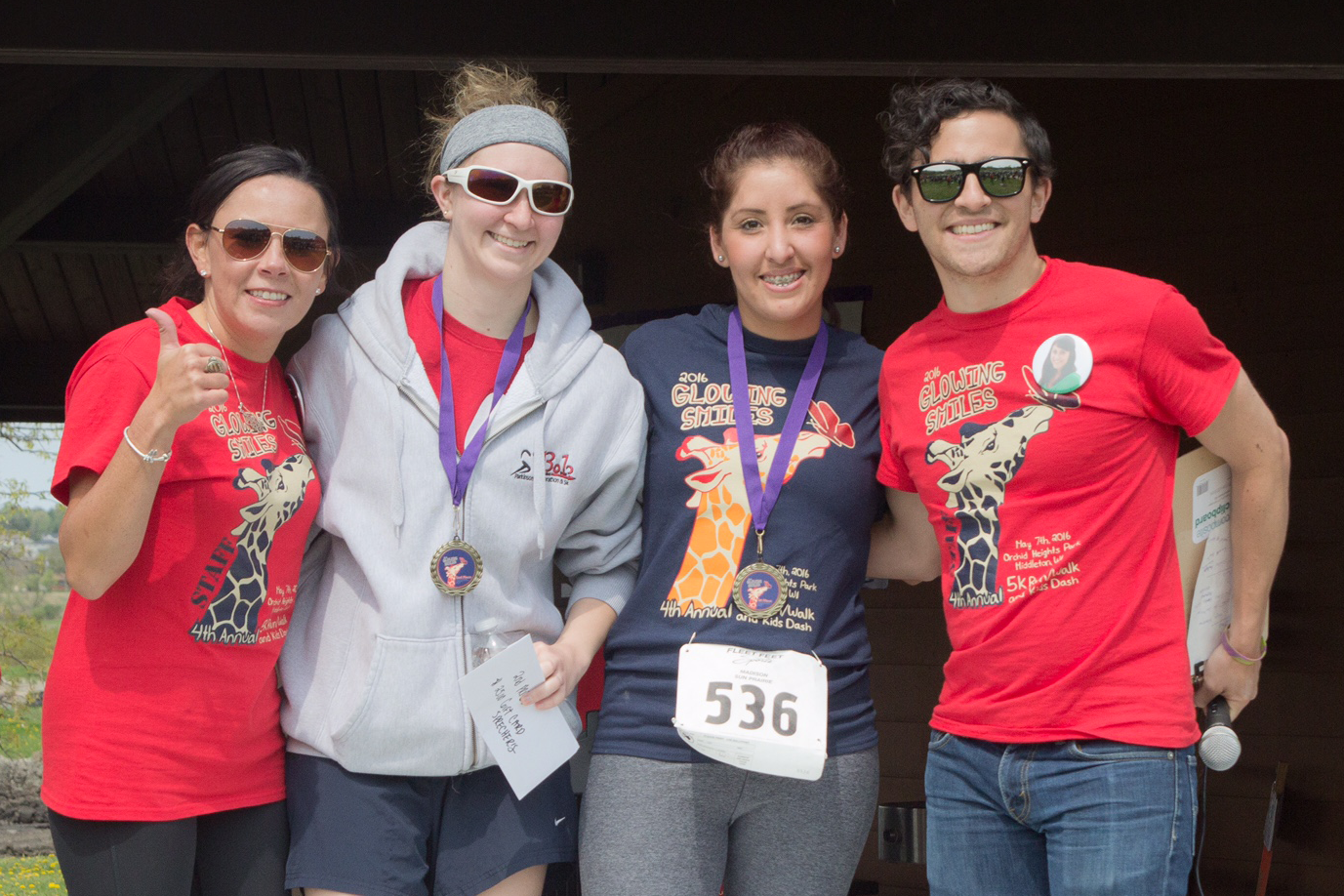 2016 Female winners from left to right: Coni Vergara Duhr, Sarah Booth (2nd place), Sandra Sandoval (1st place), Amber Hahn (3rd place, not pictured) and Juan Vergara.