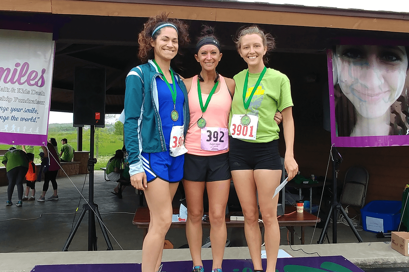 2017 Female winners from left to right: Bethany Phillips (3rd Place), Jenna Edwards (2nd place), Cynthia Hovey (1st place)