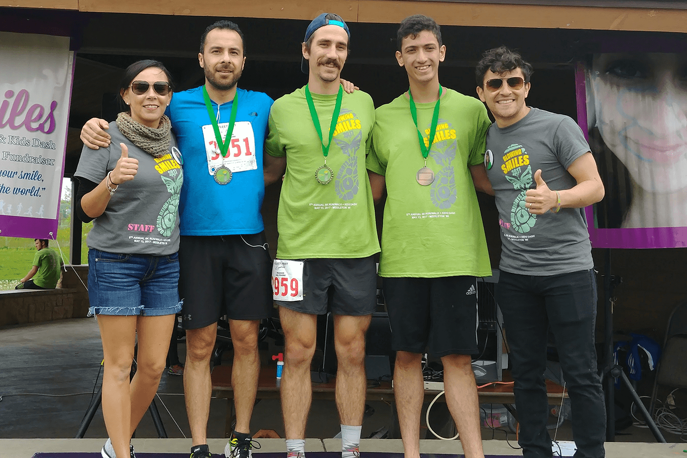2016 Male winners from left to right: Coni Vergara Duhr, Juan Carlos Espinoza (3rd place), Hugo Moreno (1st place), Eliseo Santiago (2rd place) and Juan Vergara.